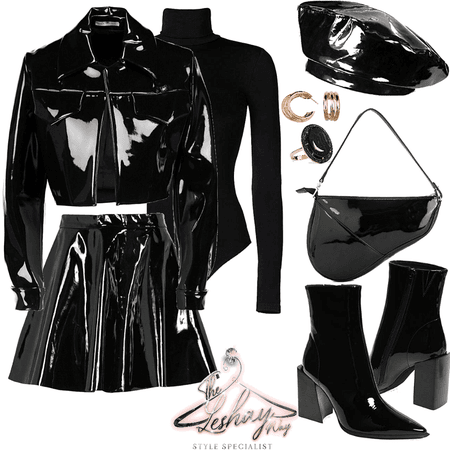 PVC Black Panther Leather Coord 🖤✊🏿