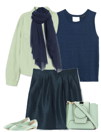 MINT AND BLUE