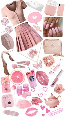 pink! mini skirt!