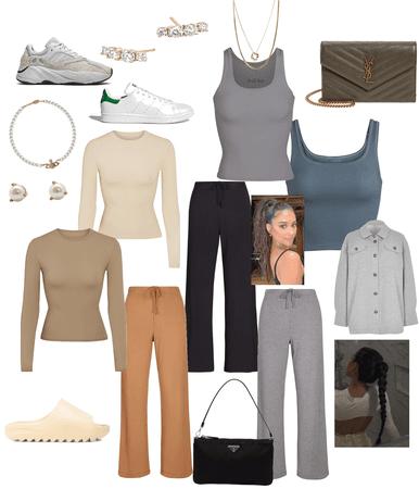 skims casual ootd/loungewear