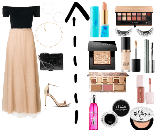 NYE Nude outfit and makeup