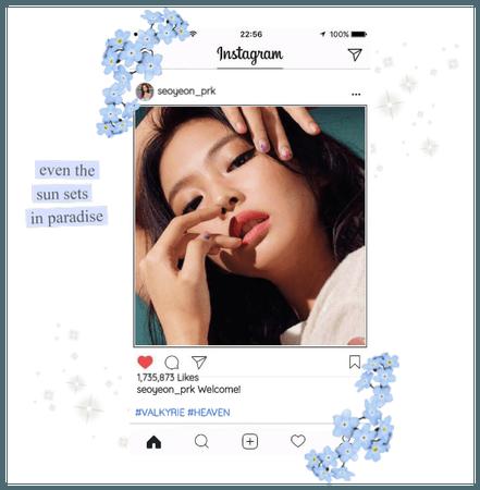 Seoyeon First Instagram Post