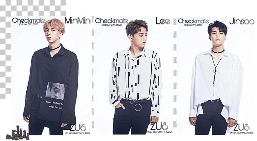 Zus// MinMin, Lee & Jinsoo 'Checkmate' Teaser Photos Game Ver.
