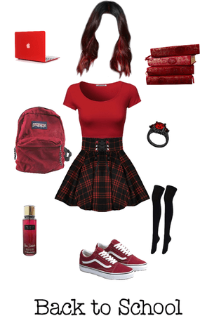 Red School Outfit