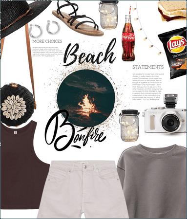 Beach bonfire : j