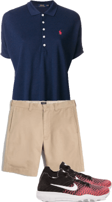 Golfing outfit