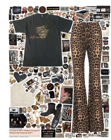 bold cheetah pants