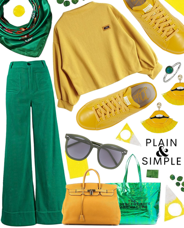 color co-ord green and yellow