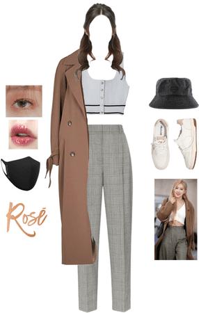 BlackPink rosé airport fashion inspo