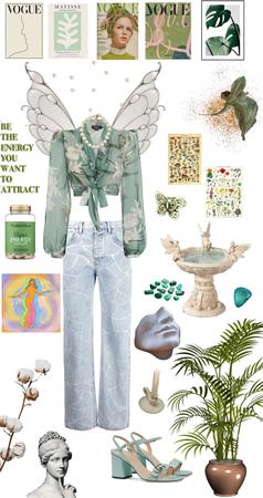 aesthetic Green Energy fairy
