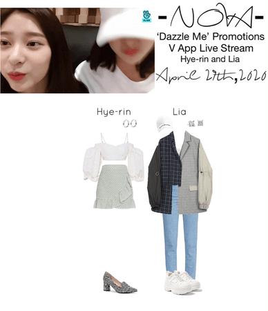 -NOVA- 'Dazzle Me' Hye-rin & Lia V App Live Stream