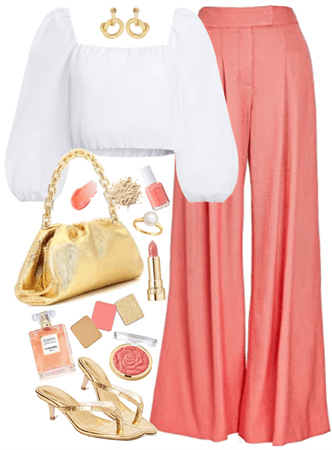coral+gold