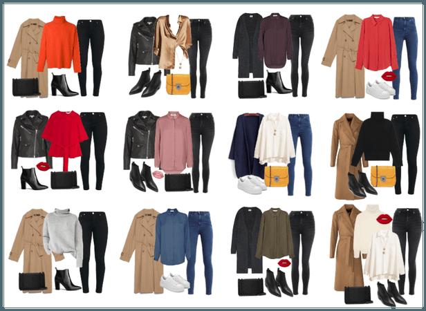 Autumn outfits capsule closet 2019