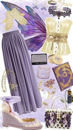 purple & yellow fairy vibes