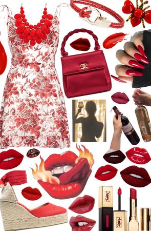 summer red lip 💋