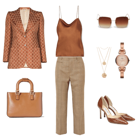 Terracotta Business Networking Outfit