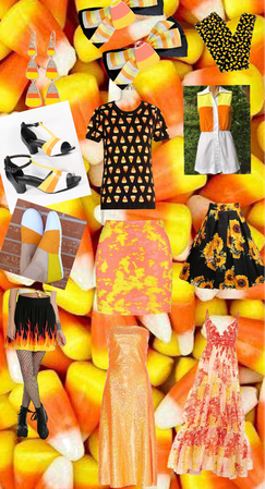 Candy corn outfits