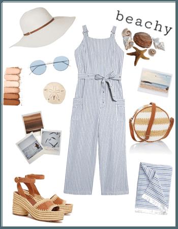 Striped beach style