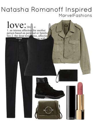 Natasha Romanoff Inspired Outfit