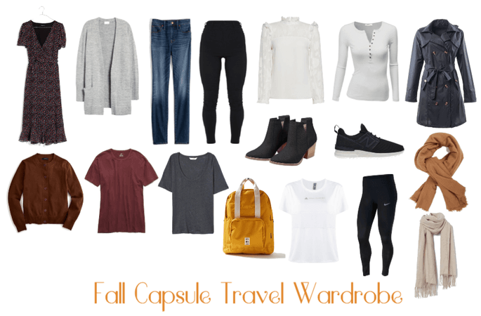 Fall Capsule Travel wardrobe