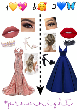 wich one 1 or 2 #prom