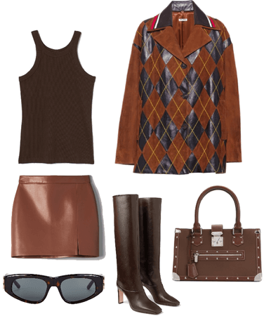 monochrome brown outfit