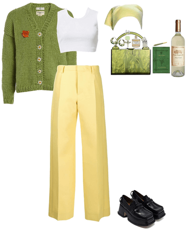 Knitwear for a spring picnic