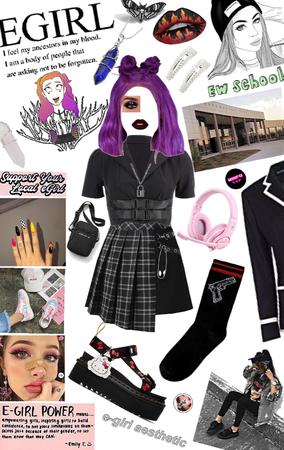 back to school 🏫 e-girl
