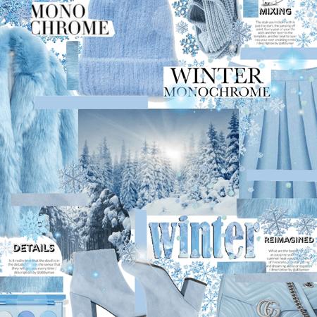 Winter Monochrome ❄️💙🥶🤍