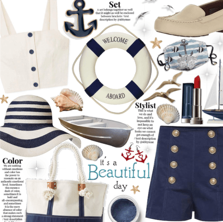 It's a beautiful day to be sailing| summer neutral
