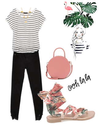 Flamingo Sandals look