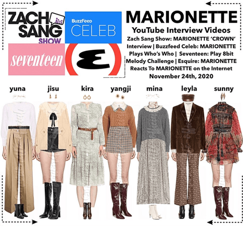 MARIONETTE (마리오네트) YouTube Interview Videos | Zach Sang Show, Buzzfeed Celeb, Seveteen, Esquire
