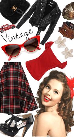 vintage in red