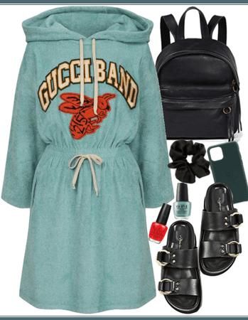 viscose hoodie dress GUCCI