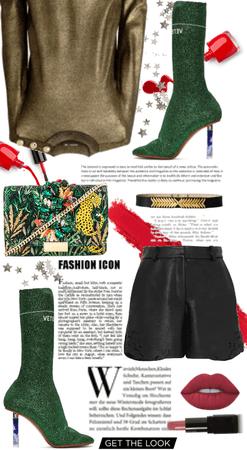 The Green Metallic Vetements Sock Boots.
