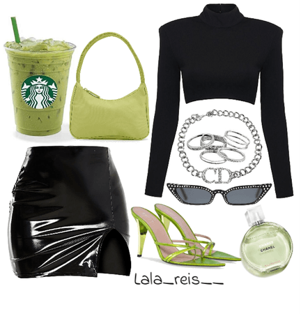 Green & Black Outfit