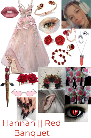 Hannah Red Banquet inspired outfit