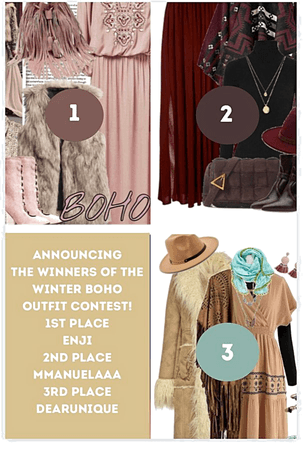 Announcing The Winners of the Winter Boho Outfit Contest