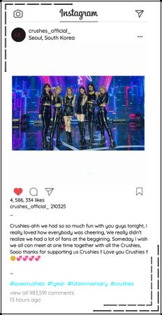 Crushes (호감) Instagram Update/Post
