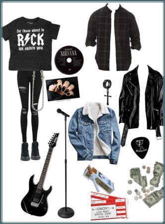 Grunge rocker outfit