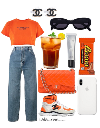 Neon Orange Outfit