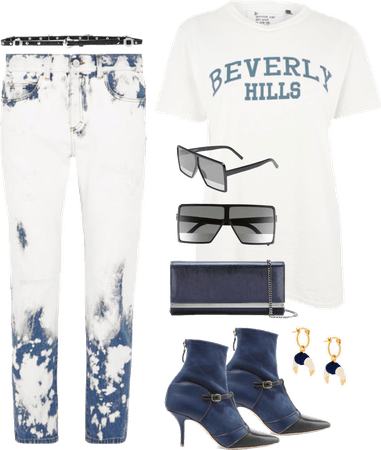 Rodeo Drive in Blue and White