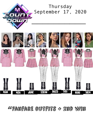 """09172020 MCountdown """"Fanfare"""" Outfits + 2nd win"""