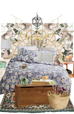 Daisy Floral Cream Bedroom