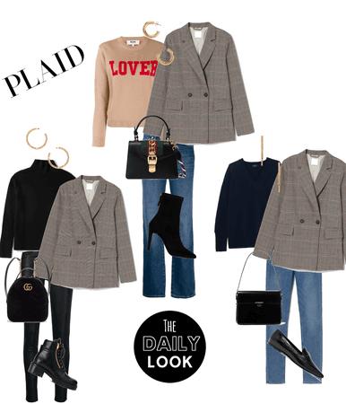 Plaid jacket 3 different ways!