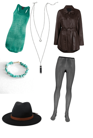 Teal and Chocolate Outfit