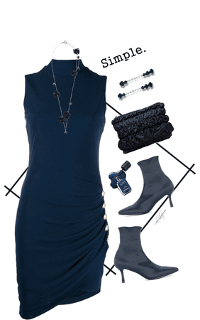 Blue Monochrome Dress Stule for @kalaaaalalove43 's Challenge!