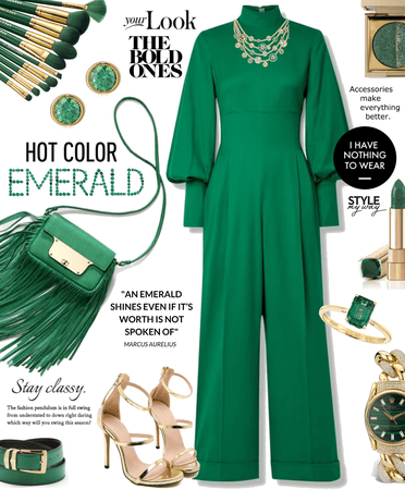Emerald + Gold