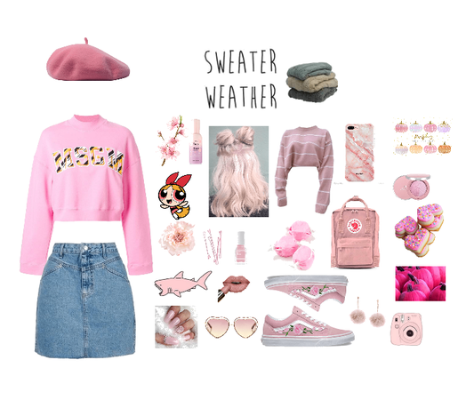 raining pink sweaters