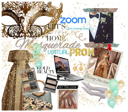 golden virtual masquerade prom